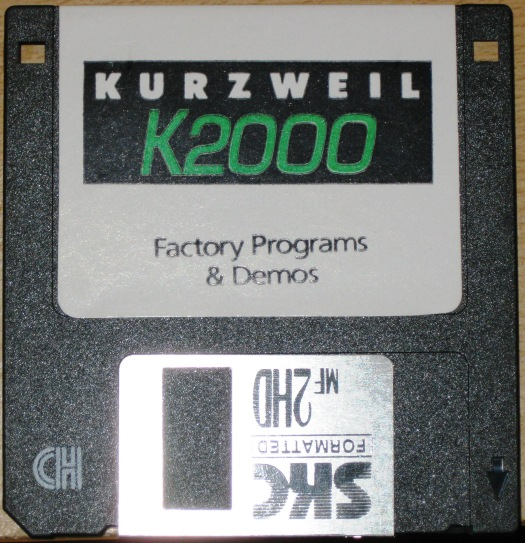 Kurzweil K2000 Factory Programs & Demos diskette